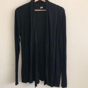 Tops - EUC Black Poly Open Cardigan SZ Large
